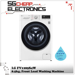 LG FV1285S4W 8.5kg Slim AI Direct Drive Front Load Washing Machine - 2 Years Warranty