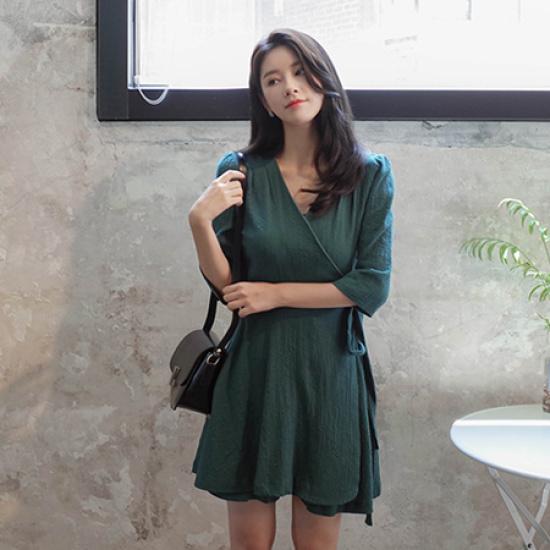 ミミ・アンド・ディディshapplin ops5053 綿ワンピース/ 韓国ファッション