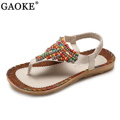 Qoo10 - Women Summer Beaded Flip Flops Sandals T strap Ankle Slipper Boho Flat  Shoes Search Results   (Q·Ranking): Items now on sale at qoo10.sg 763597d64bdd