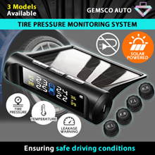 TPMS Tire Pressure Monitoring System Solar Power Wireless Car Alarm System with 4 External Sensors