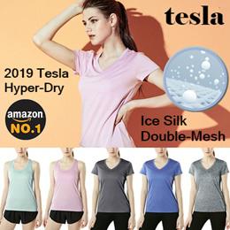 402d2da8182a63 Tesla Hyperdry Womes Tshirts   Ice Cool   Performance tshirts   Super Sale