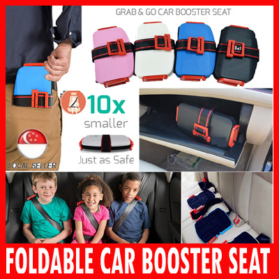 Portable Foldable Car Booster Seat Car Booster Seat Deals for only S$49.9 instead of S$0