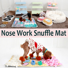 Pet Dog Cushion Bed Blanket/Nose Work Snuffle Mat/Handmade in Korea★Relieve stress/Reduced anxiety