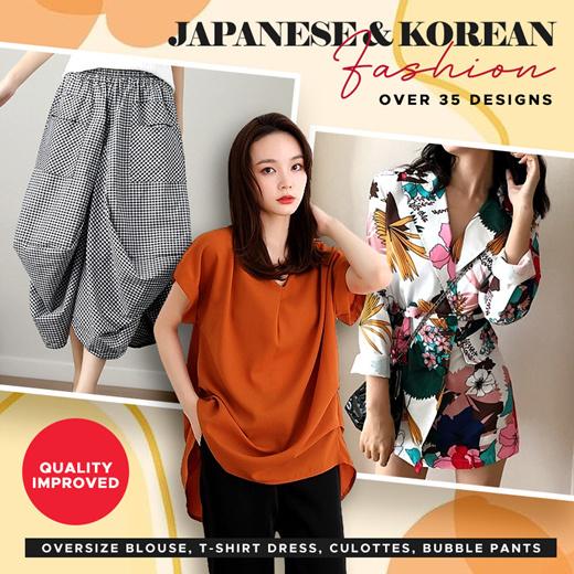 [S$12.90](▼79%)[ORTE SG]Korean Jap Fashion Oversize Blouse Top T-Shirt Dress Blazer★Plus Size Culottes Pants Skirt★
