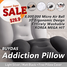 [NEW] Buydas⭐Addiction Pillow+Pillow Cover⭐Radon Free⭐Entirely Washable⭐8Million Micro Airball⭐
