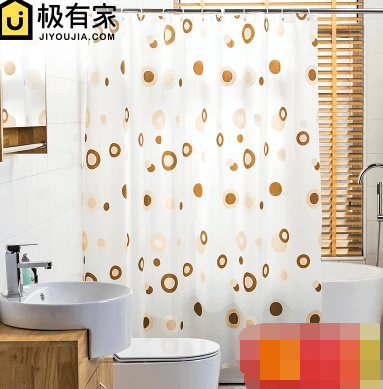 Bathroom Shower Curtain PEVA Thick Plastic Waterproof Mildew Bath Cloth Partition C
