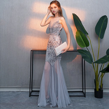 ac9385f6dd3f Quick View Window OpenWishAdd to Cart. rate:new. Evening dress female 2019  new banquet noble sexy host long temperament fishtail birthday party dress