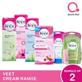 [RB Health] Veet Wax Strip/ In-Shower/ Cream *Bundle of 2*