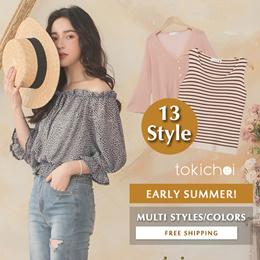 [Buy 2 free shipping] TOKICHOI - Trendy Tops Blouses Multi Styles Women Fashion- Flash Deal