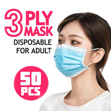 ❗ IN STOCK ❗ 3 ply Disposable Mask Blue 50pcs / disposable mask / face mask / mask / Anti Virus