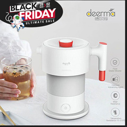 小米德尔玛0.6L折叠电热水壶手持便携式水壶自动断电保护水壶