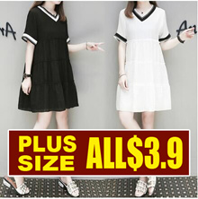 ▶▶Special Offer PROMO $3.9 ▶▶  / Last Today Only /  2018 NEW PLUS SIZE FASHION LADY DRESS