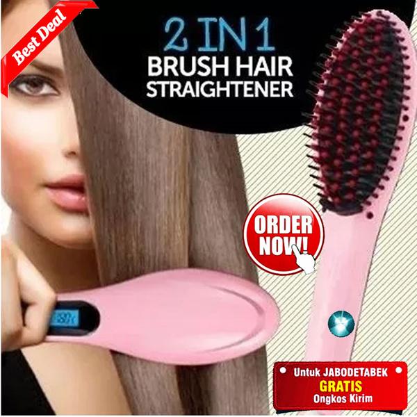 MAGIC HAIR BRUSH ELECTRIC COMB HAIR STRAIGHTENER - SISIR CATOK 2 IN 1 | CATOKAN |