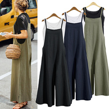 [ Local shipping ]Wide Leg Pants/Jumpsuit Wide Pants/COTTON100%/Wide Leg Linen Pants