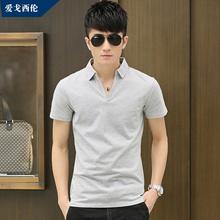 Summer styles short sleeve t-man Korean leisure clothing men s fashion collar cotton short sleeves P
