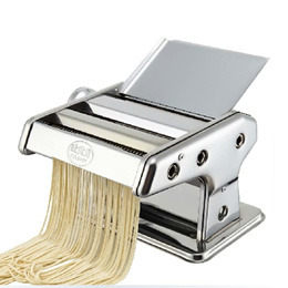 New Silver Steel Spaghetti Fettuccine Pasta Noodle Maker Machine Double Cutter