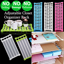 Adjustable Closet Organizer Rack/Wardrobe Compartment Divider/No Drilling No Screws/Shelf hanger