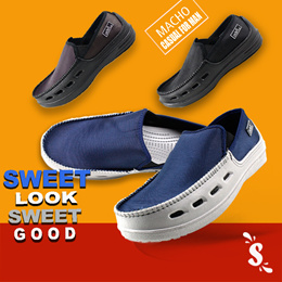 sepatu Kasual Pria  Slip On ODE MACHO 3 color available Sz 41 - 43
