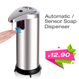 [HomeApp] Automatic Sensor Soap Sanitizer Dispenser Stainless Steel Touch-free for Kitchen Bathrooom