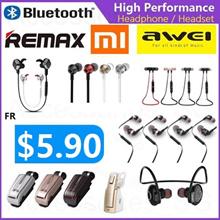 [BUY1GET1FREE*]Remax Awei Xiaomi In-Ear Earpiece Earphones Headset Headphones Android iOS