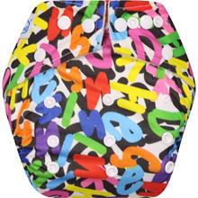 Clodi Popok Kain Bayi Babyland Snap Microfiber Black Alphabet   cloth diaper   Best seller
