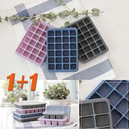 BPA Free Food Grade Silicone  Ice Cube Tray/Baby Food Freezing Storage★Multi-purpose★1+1★Korea★