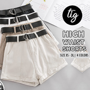 TIG SALE ★ HIGH WAIST SHORTS ★ DENIM ★  XS - 3L ★ PLUS SIZE