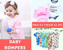 【Over 50+ Designs】Premium Baby Newborn Infant Kids Toddler Casual Cotton Romper Jumpsuit Sleepsuit