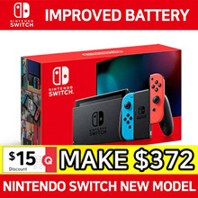 NINTENDO SWITCH CONSOLE BATTERY UPGRADE NEW MODEL SYSTEM BULDLE ★ NEON / GREY Joy-Con ★