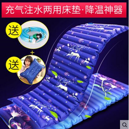 Summer ice cushion water mattress/Single and double ice pillow water bed cushion