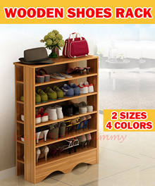 【Shoe Rack】Minimalist Wooden Shoe Shelf/  4/5 Tier Shoe Rack