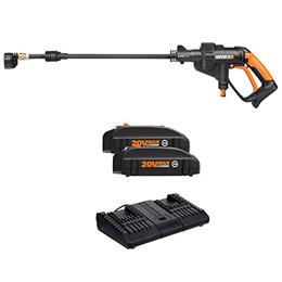 [WORX] WG629.9 - Cordless Hydroshot Portable Power Cleaner, 20V Li-ion (2.0Ah), 320psi, 20V Power Sh