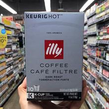 Illy Coffee Cafe Filtre Dark Roast Keurig K Cup 4.1 oz
