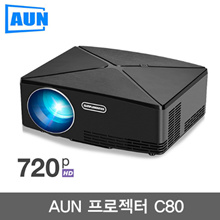 AUN C80 / HD MINI Projector / 1280x720 / Android Projector / WIFI Bluetooth