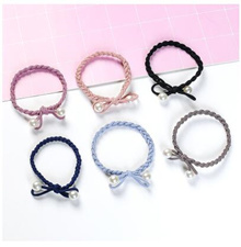 10 pcs High elastic rubber band hair ring small fresh and simple personality head rope tie hair