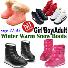 2018 New Girl Boy Kids Women Men Winter Snow Boots/ Non-slip Fur Thick Shoes/ Doc Martens Footwear