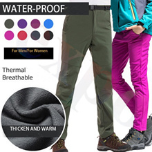 Women Men Fleece Pants Waterproof Warm Windproof Pant Outdoor Fishing Camping Hiking Skiing Trousers