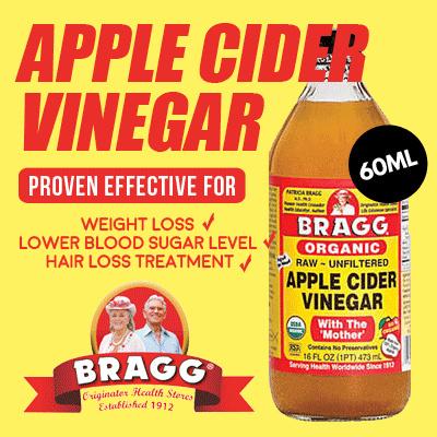 Qoo10 - Bragg Apple Cider Vinegar (Apple Vinegar) - 60 Ml + Honey Al Shifa 125... : Diet / Wellness