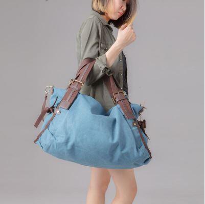 Korea Single Shoulder Bags Big Capacity Canvas Tote Bag Female Sling Bag Leisure Women Men Messenger Bag Handbags Deals for only S$61.99 instead of S$0