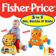 Fisher Price 3-in-1 Sit Stride and Ride Lion/Tiger Walker