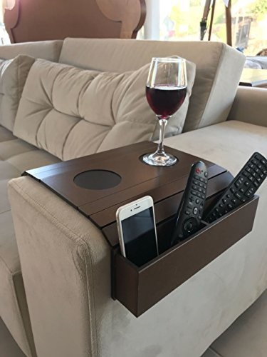 Qoo10 Sofa Arm Tray Table Remote Control And Cellphone Organizer
