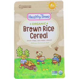 [Health] Healthy Times, Organic, Brown Rice Cereal, 4+ Months, 5 oz (142 g)