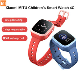 Mitu Childrens Phone Smart Watch 4C Intelligent Multifunction Watch 4G Video Call IPX8 Waterproof