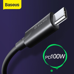 Baseus Type C to USB C Cable 100W Type C Cable for MacBook Pro PD Fast Charger Cable for Samsung S20