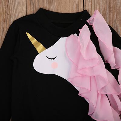 f870e29c3 Qoo10 - authentic Baby Girls Clothes Long Sleeve Unicorn Sweatshirt ...