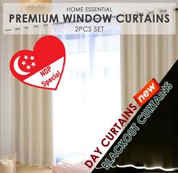 ★99% Sunlight Blockout Curtains / Blackout Curtains ★ 2 Pcs  ★ SIZE L Only★ 200cm x 250cm x 2pcs