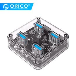 ORICO MH4U 4 Ports USB3.0 Transparent Desktop HUB With Rubber Anti-skid Pad