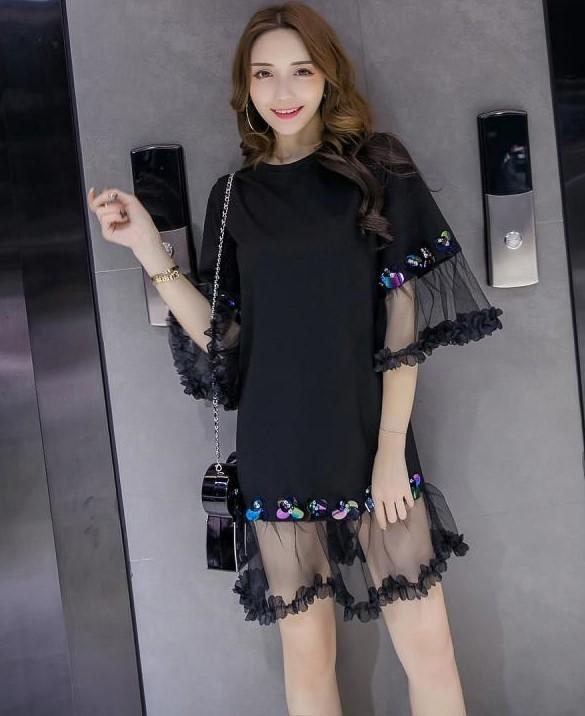 2017早春新作  韓国ファッション 森ガール系 ワンピース レディース  シャツ パーカー  可愛い上質 ms217  2COLOR