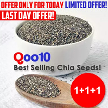1+1+1 Promotion! 1.5 Kg for Crazy Offer! Natural Organically Grown Black Chia Seeds 500g Virico