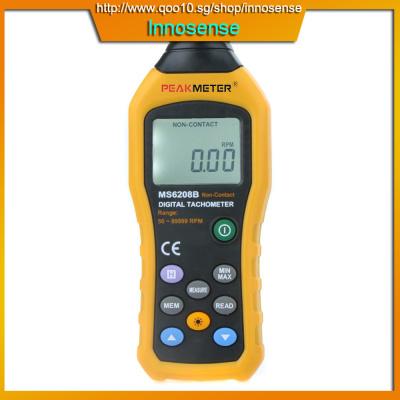 PEAKMETER MS6208B Non-contact LCD Digital Tachometer Test Meter Air Flow  Speedometer